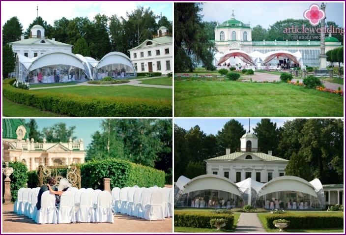 Zeremonie und Hochzeit im historischen Anwesen