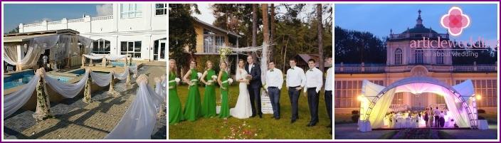 Organisation einer Hochzeit in einem Ferienhaus in der Natur