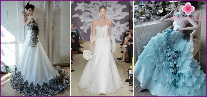 Multi-colored dresses for brides