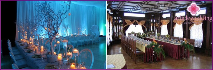 Trends of the new season in the design of the wedding hall