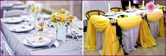 New trends in decorating a wedding table