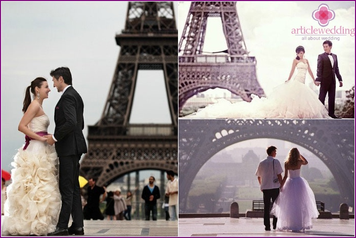 Great backdrop for your photo - Eiffel Tower