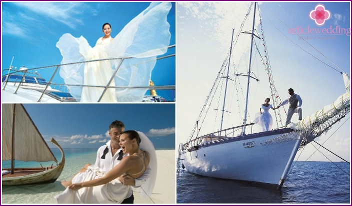 Holding a Maldivian wedding ceremony on a yacht
