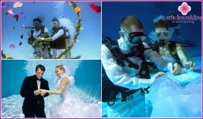 Maldives wedding underwater