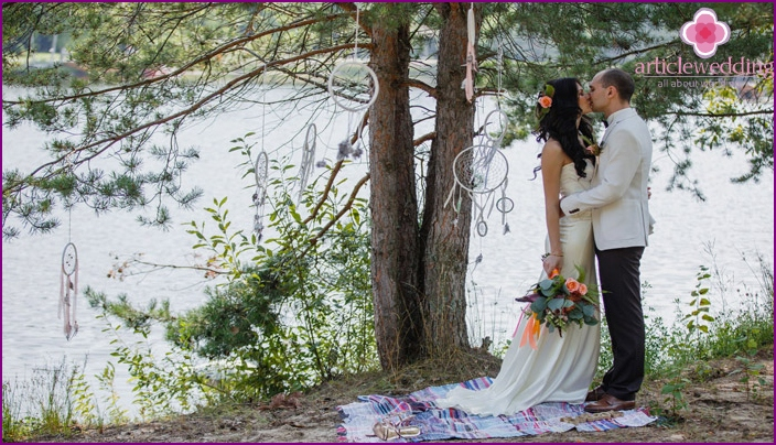 Boho-Stil für die Ehe