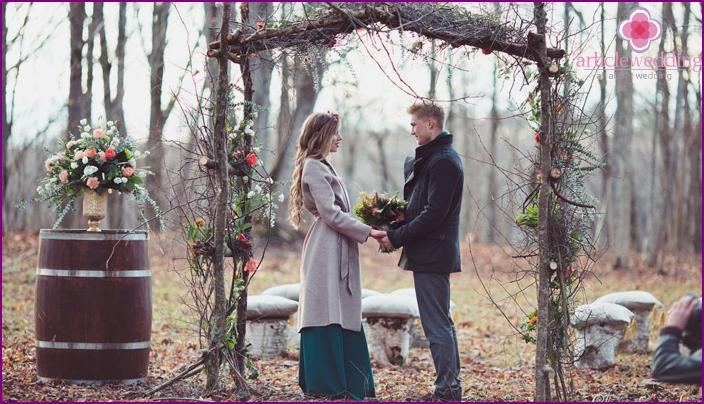 Rustikaler Stil als Hochzeitsidee