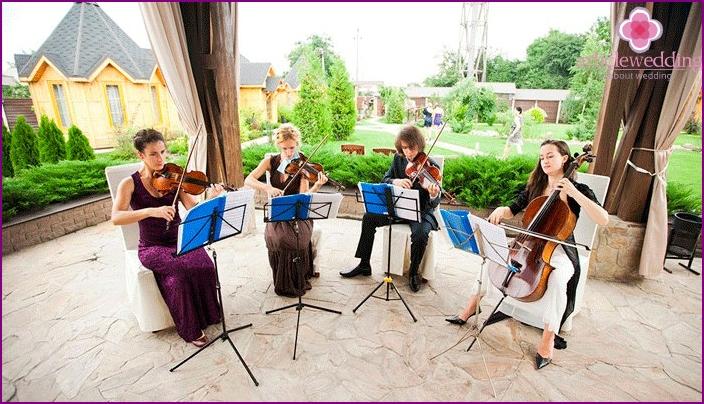 Musikalische Begleitung der Hochzeit
