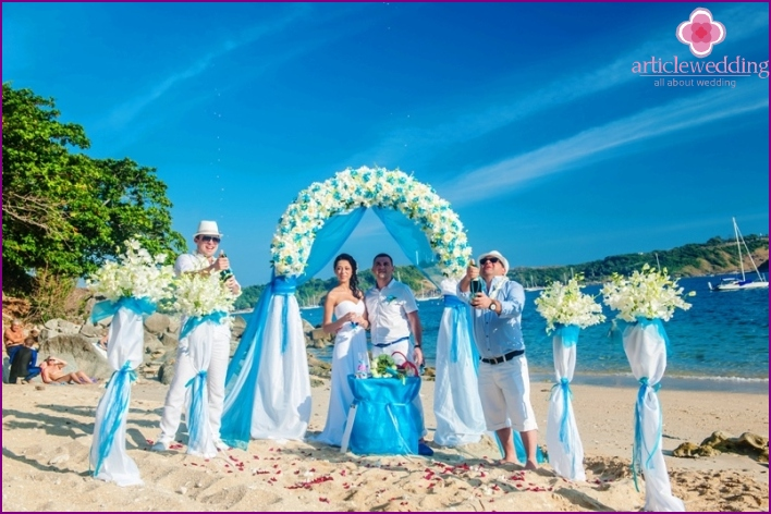 Island wedding ceremony