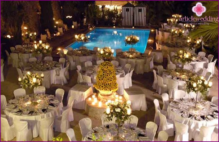 Wedding celebration in the villa