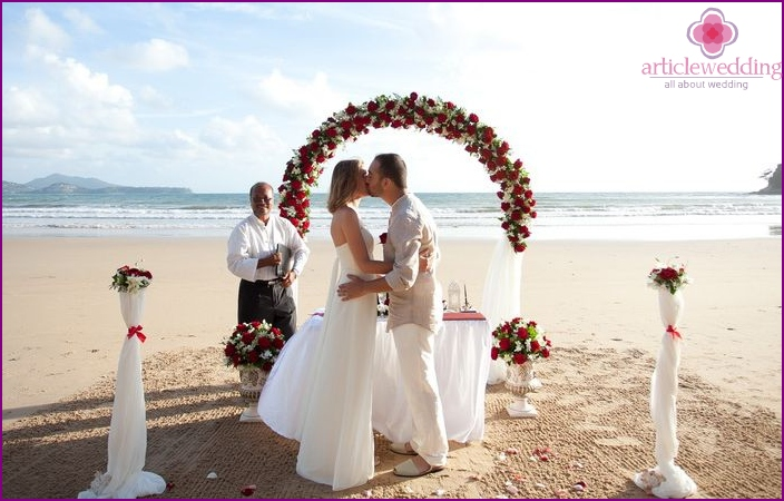 The official wedding ceremony in Phuket