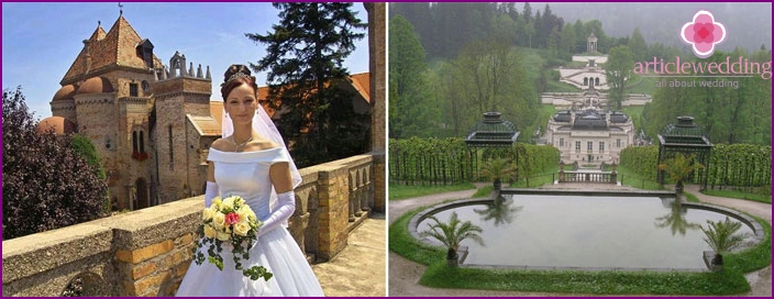 Wedding of Russian newlyweds in Bavaria