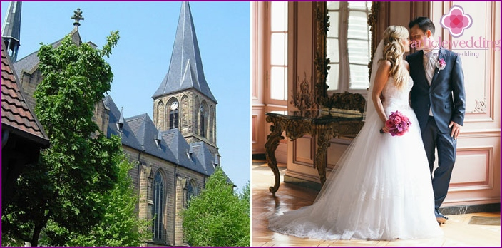Dusseldorf - a city of new technologies for holding a wedding