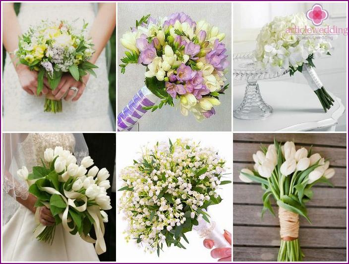 March bride's bouquet