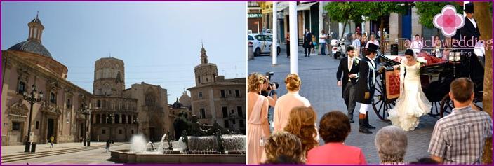 Sevillan kaupungin espanjalaiset häät