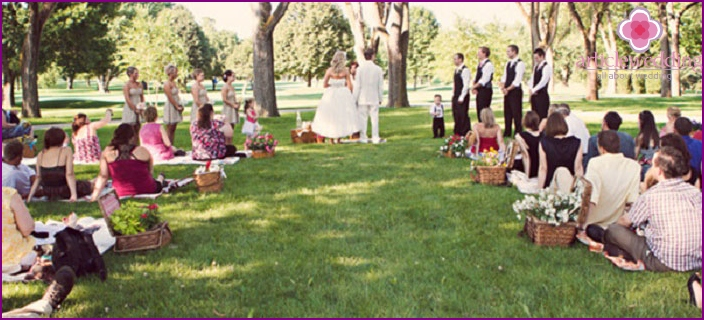 How to cheaply organize a wedding in nature
