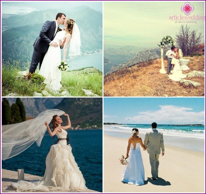 Wedding celebration in Montenegro