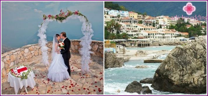 Herceg Novi, Montenegro: Hochzeitsveranstaltung
