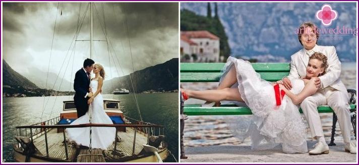 Jungvermählten in Montenegro