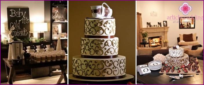 Wedding Cake and Coffee Treats