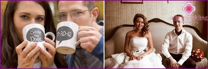 Coffee style wedding photo shoot