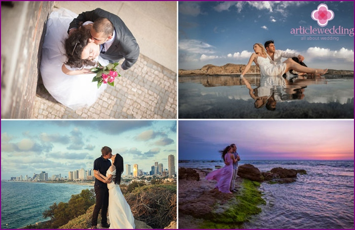 Wedding ceremony on the shore of Tel Aviv