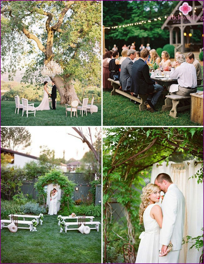 Little wedding in nature