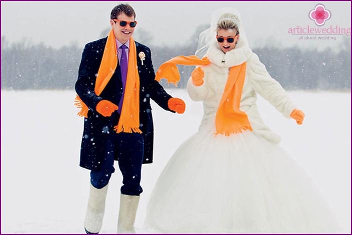 Wedding in autumn or winter