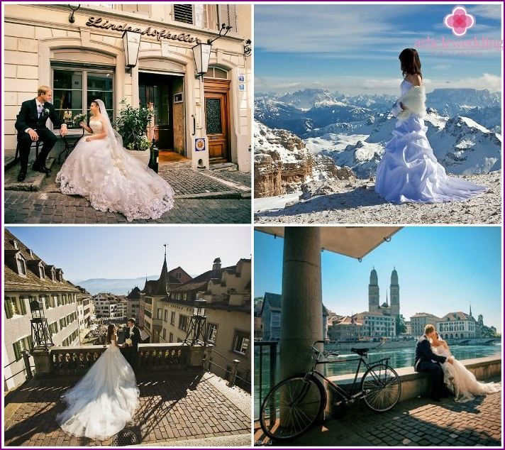 Swiss wedding photo shoot