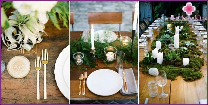 Elements of a stylish eco-friendly wedding