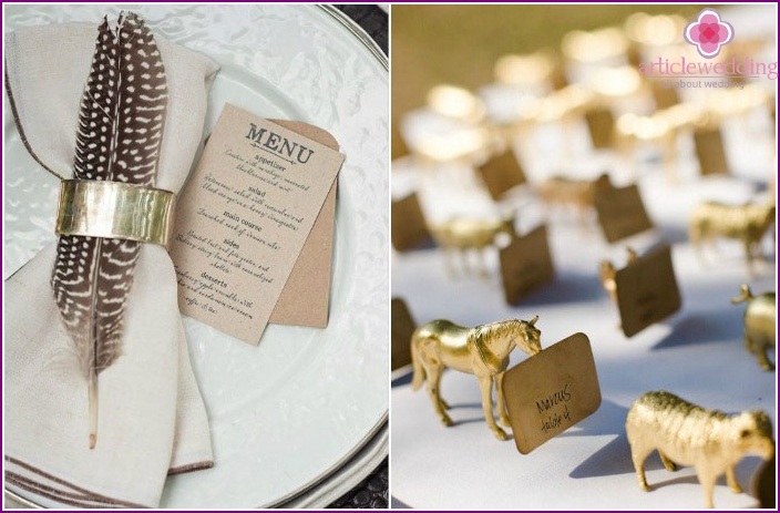 Tiermotiv am Ende der Hochzeit