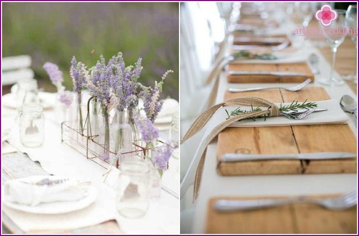 Einfache Hochzeitsdekorelemente