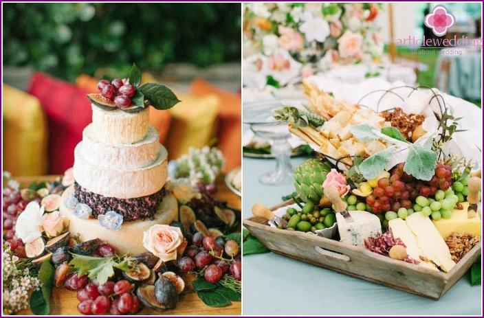 Hochzeitskäse Tisch
