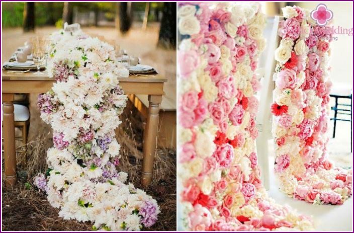 Luxuriöse Hochzeitsdekoration