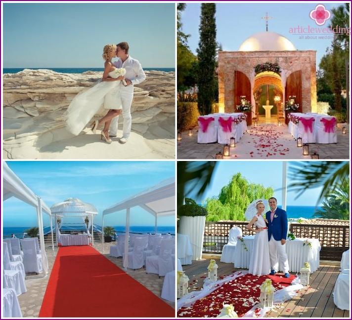 Wedding registration of marriage in Limassol, Cyprus