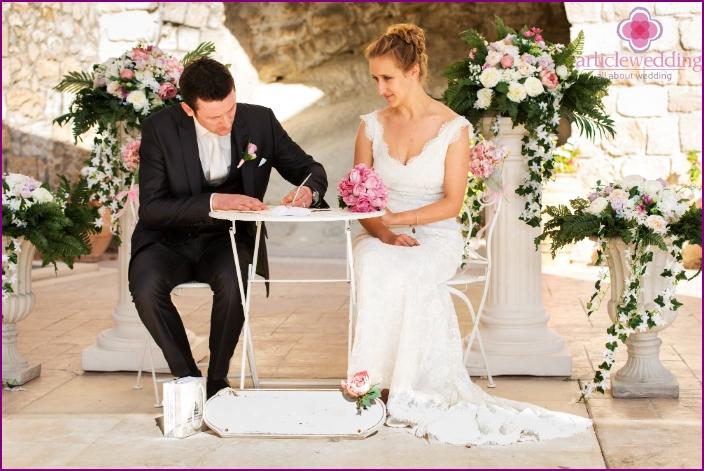 Die offizielle Registrierung der Ehe in Zypern