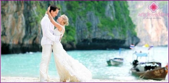 Strand Thai Hochzeit