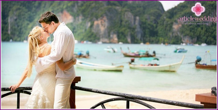 Hochzeit in einer Villa von Thailand