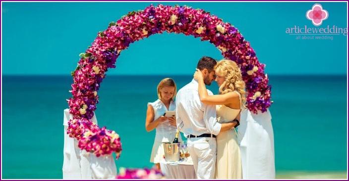 Symbolische thailändische Hochzeitszeremonie