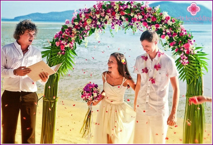 Formelle Hochzeit in Thailand