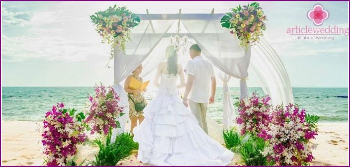 Schicke thailändische Hochzeitszeremonie