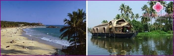 Romantische Hochzeit in Kerala
