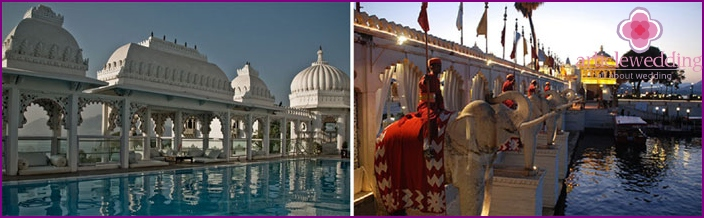 Itä-Venetsia tai Udaipur: hääseremonia