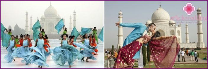 Taj Mahal als Symbol der ewigen Liebe