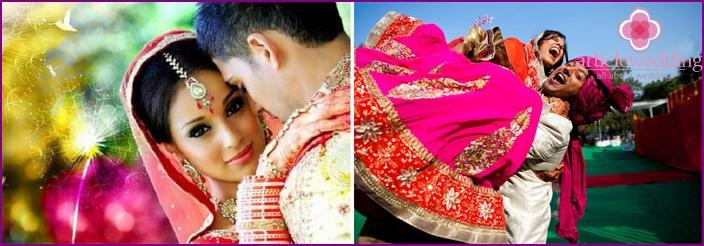 Hochzeitsfoto-Shooting im alten Indien