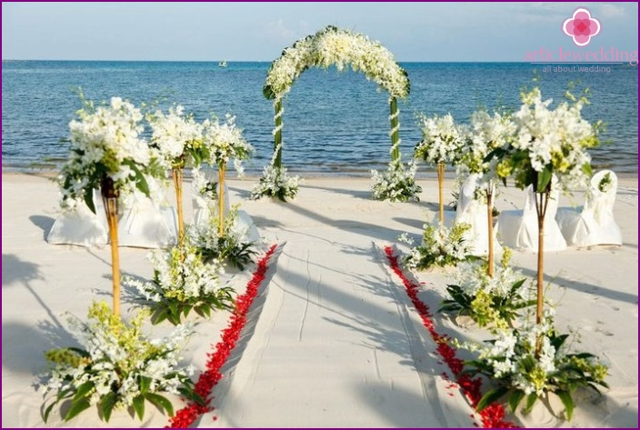 Decoration of the wedding ceremony in Thailand