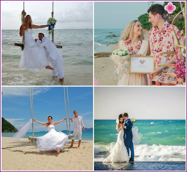 Wedding ceremony on the Thai island of Pattaya