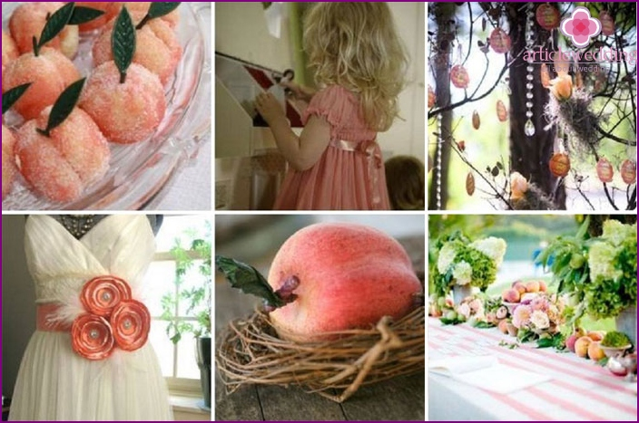 The main colors of the fruit wedding