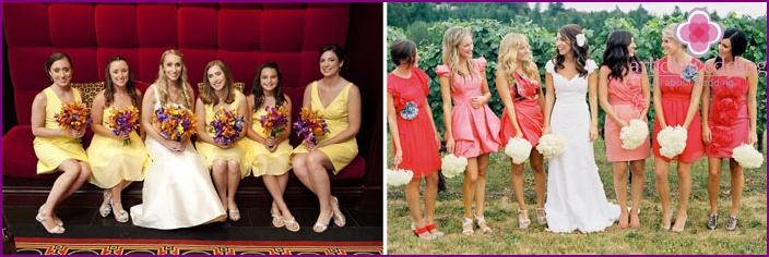 Fruchtige Hochzeitskleidung