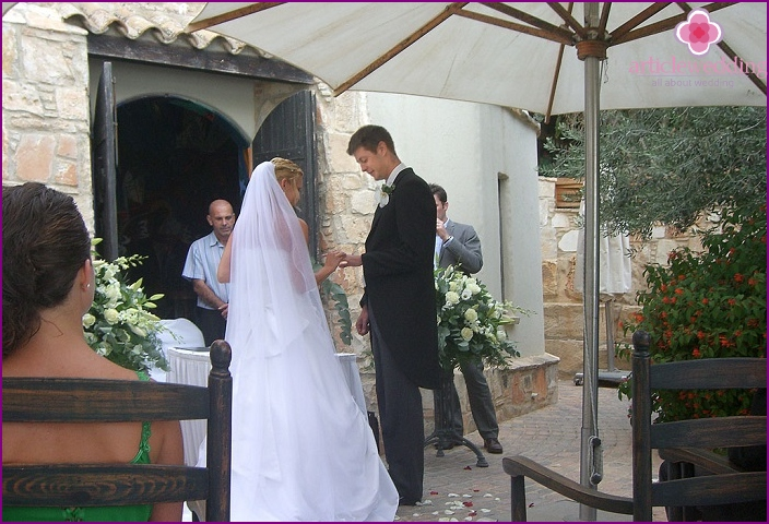 The traditional marriage of the islanders of Cyprus