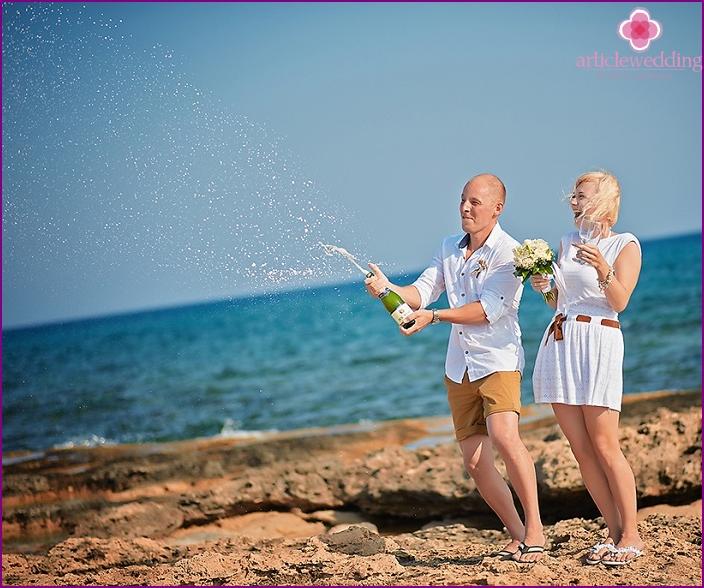 Symbolic wedding celebration in Cyprus